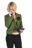 Business Lady #5. Blonde Business woman on the phone stock photo