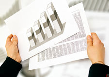 Business lady analyse Stock Image
