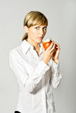 Business Lady with Apple Stock Images