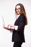 Business lady, call center Royalty Free Stock Images
