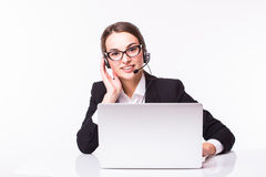 Business lady, call center Royalty Free Stock Photography