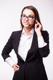 Business lady, call center Stock Photos