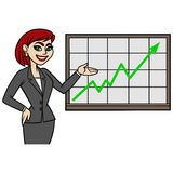 Business Lady with Chart Royalty Free Stock Photography