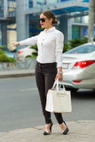 Business lady in the city Stock Photo