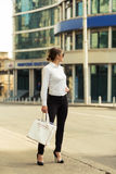 Business lady in the city Stock Photography