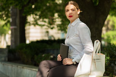 Business lady in the city Stock Photos