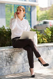 Business lady in the city Royalty Free Stock Photo