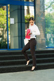 Business lady in the city Royalty Free Stock Image
