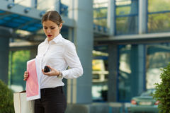 Business lady in the city Stock Image