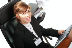 Business lady at a desk Royalty Free Stock Image