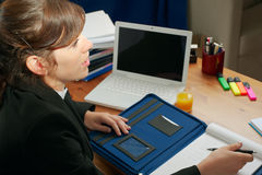 Business lady at a desk Stock Photos