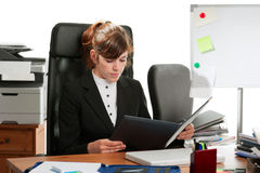 Business lady at a desk Stock Photo