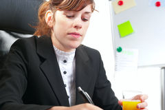Business lady at a desk Stock Photography