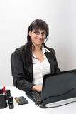 Business lady at the desk Stock Images