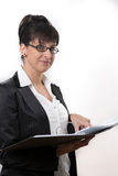 Business lady with a document Royalty Free Stock Photo