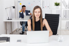Business lady doing her usual job Stock Photography