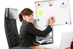 Business lady drawing Stock Photos