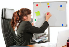 Business lady drawing Royalty Free Stock Photos