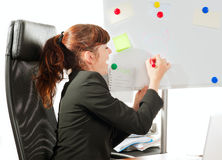 Business lady drawing Stock Images