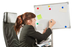 Business lady drawing Royalty Free Stock Images