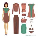 Business lady. Fashion set Royalty Free Stock Images