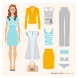 Business lady. Fashion set Stock Photo