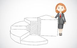 Business Lady giving presentation Stock Photography