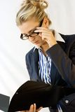 Business lady in glasses Stock Photography