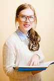 Business lady in glasses Stock Images