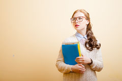 Business lady in glasses Stock Photos