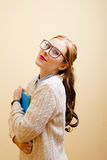 Business lady in glasses Stock Image