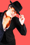 Business lady with hat. Stock Photography