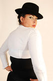 Business lady with hat. Royalty Free Stock Photo