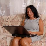 Business Lady At Home Stock Images