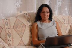 Business Lady At Home Two Royalty Free Stock Image