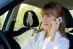 Business Lady In A Car Royalty Free Stock Photo
