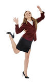 Business lady jumping with joy Stock Photography