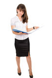 Business lady keeps folder Stock Photography