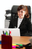 Business lady with  a laptop Stock Images
