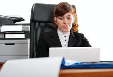 Business lady with  a laptop Stock Photography