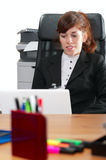 Business lady with  a laptop Stock Photos