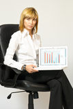Business Lady with Laptop Stock Images
