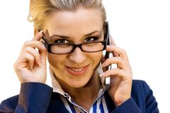 Business lady with mobile Stock Photos