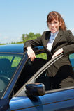 Business lady outdoor Stock Photography