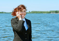 Business lady outdoor Stock Photos