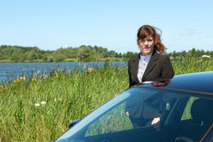 Business lady outdoor Royalty Free Stock Photo