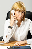 Business Lady on Phone Stock Image