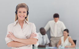 Business lady on phone Stock Photos