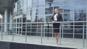 Business Lady With Phone and Handbag stock video footage