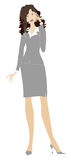 Business lady phoning. Business lady making a call royalty free illustration
